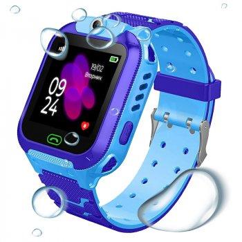 Детские смарт-часы JETIX DF22 Wi-FI с GPS трекером и влагозащитой IP67(Blue)