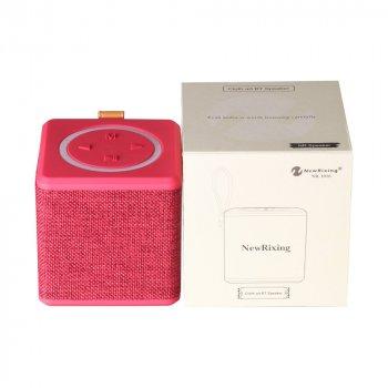 Бездротова акумуляторна Bluetooth колонка акустика New Rixing NR-1016 Original Red