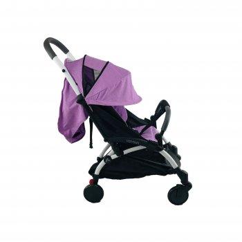 Коляска 3в1 Yoya 175 А+ 2021 Фиолетовая на белой раме с Автокреслом Серым и Блоком для новорожденного