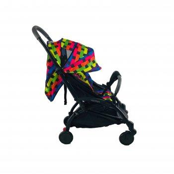 Коляска 3в1 Yoya 175 А+ 2021 Красно-зеленая Mix на черной раме с Автокреслом Красным и Блоком для новорожденного