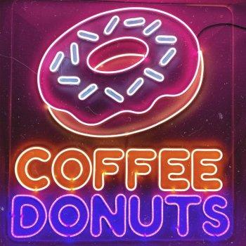 Неонова вивіска «COFFEE DONUTS»