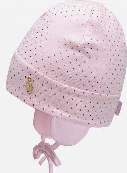 Демисезонная шапка с завязками David's Star 21347-1 48 см Розовая (ROZ6400049586)