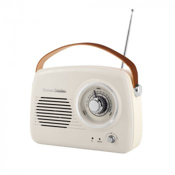 Радиоприемник Vintage Cuisine Retro с Bluetooth Кремовый