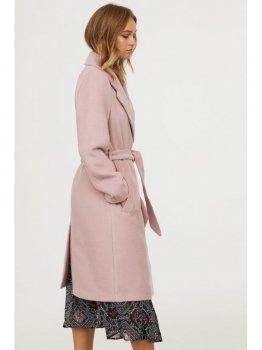Пальто H&M 0690212-8 Рожеве