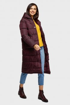 Женская бордовая куртка Oodji 10207009/45928/4900N