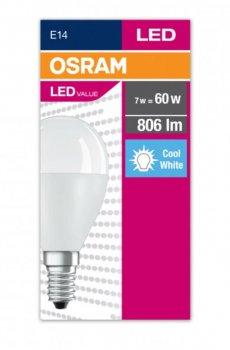 Лампа світлодіодна OSRAM LED Value Р60 кулька 7W 806Lm 4000K E14