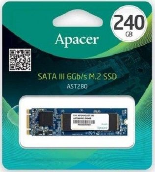 Твердотільний накопичувач SSD Apacer SATA M. 2 240GB AST280 2280 TLC