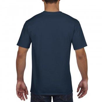 Футболка Premium Cotton темно-синя 100% бавовна ТМ Gildan