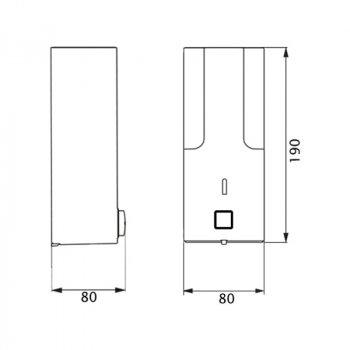 Диспенсер для рідкого мила Lidz PLA-120.01.01 Білий (LIDZPLA1200101)