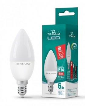 LED лампа TITANUM C37 6W E14 4100K 220V (ТL-С37-06144)