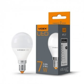 LED лампа VIDEX G45e 7W E14 3000K 220V (VL-G45e-07143)