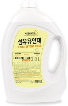 Кондиционер смягчающий для белья Mukunghwa Fabric Softener Mild Cotton Мягкий хлопок 3 л (8801173603232)