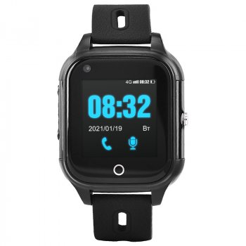 Дитячі смарт-годинник c 4G і видеозвонком JETIX DF100 (захист від води IP67) - black