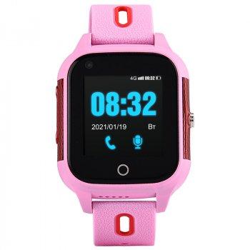 Дитячі смарт-годинник c 4G і видеозвонком JETIX DF100 (захист від води IP67) - pink