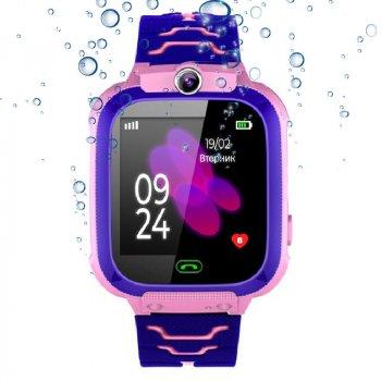 Дитячі водонепроникні смарт-годинник JETIX DF22 LBS (Pink)