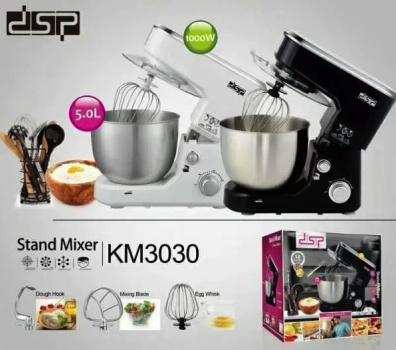 Кухонний міксер DSP KM3030 1000 Вт з чашею з металу 5 л Чорний