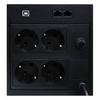 Джерело безперебійного живлення Powercom RPT-1025AP, 4 x євро (00210192)