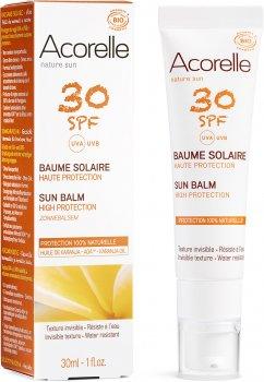 Солнцезащитный бальзам для лица Acorelle SPF30 органический 30 мл (3700343046037)