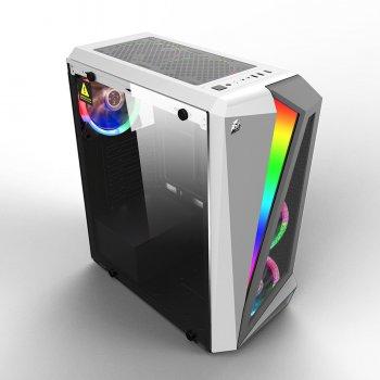 Корпус 1stPlayer R5-3R1-WH Color LED White, без БЖ