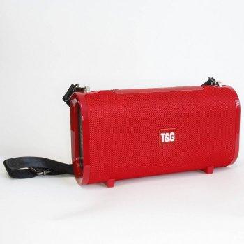 Портативна bluetooth колонка вологостійка TsG TG-123 FM, MP3, радіо Червона