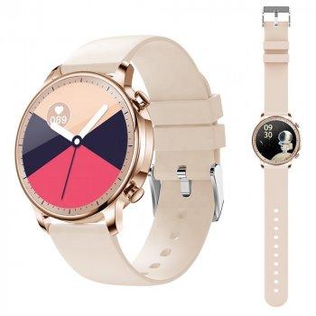 Смарт годинник Розумні годинник Smart Intellectuai Watch V23 Pro 2020 Жіночі Тонометр Пульсометр Зброс дзвінка Лічильник калорій Крокомір Gold