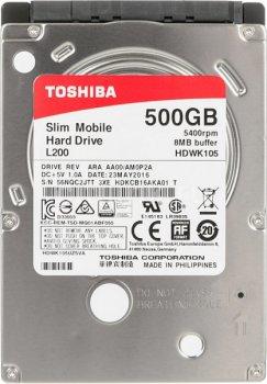 "Накопителм HDD Toshiba 2.5"" 500GB (HDWK105UZSVA) (F00150478)"