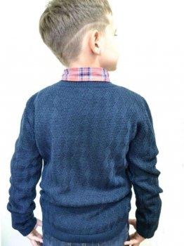 Пуловер Прованс Геометрия Темно-синий