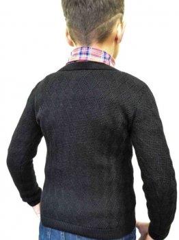 Пуловер Прованс Геометрия Черный
