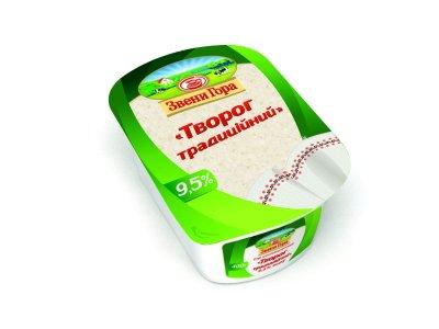 Сир кисломолочний Звени Гора Сир традиційний 9,5% жиру 400г