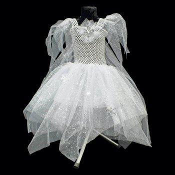 Платье Фроузен детское со шлейфом и брошью SETA Decor 16-893WT