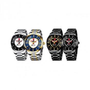 Мужские механичиские часы Chronte Black наручные классические на стальном браслете + коробка (1132-0118)