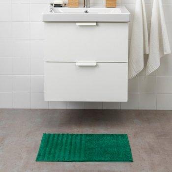 Килимок для ванної кімнати мікрофібра IKEA VINNFAR 40x60 см Темно-зелений (504.393.95)