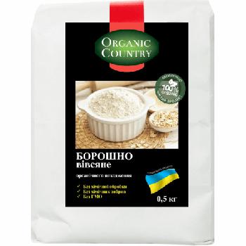 Мука овсяная органическая Organic Country 500 г (2000000006161)