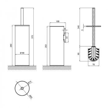 Ершик для унитаза Qtap Liberty BLM 1150 (SD00040034)