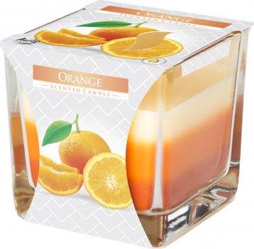 Свеча ароматическая трехцветная Bispol Апельсин 170 г (snk80-63)