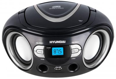 Радиомагнитола HYUNDAI TRC 533 AU3BS black-silver