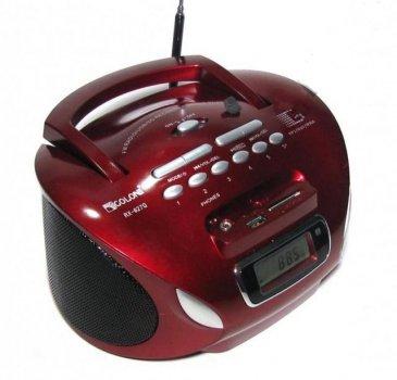 Акустична система Golon радіоприймач акумуляторний з цифровим дисплеєм магнітофон колонка з FM радіо в стилі бумбокс з пультом управління Червоний (627Q)