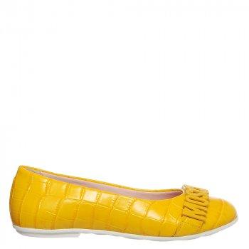 Балетки Moschino 25555 жовті/пітон жовтий