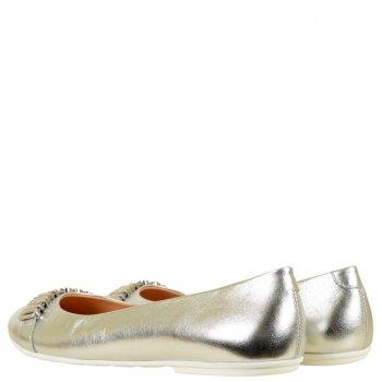 Балетки Moschino 25555 laminato argento сріблястий
