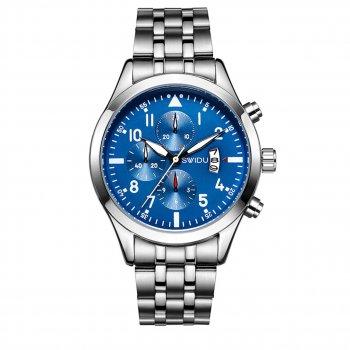 Мужские часы SWIDU SWI-081 Silver + Blue