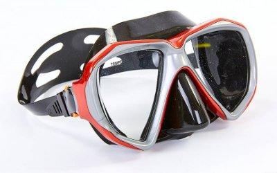 Набор для плавания маска с трубкой Zelart M208-SN120-SIL бордо