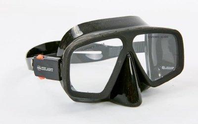 Набор для плавания маска с трубкой Zelart M273-SN124-SIL черный