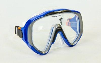 Набор для плавания маска с трубкой Zelart M167-SN124-SIL синий-серый