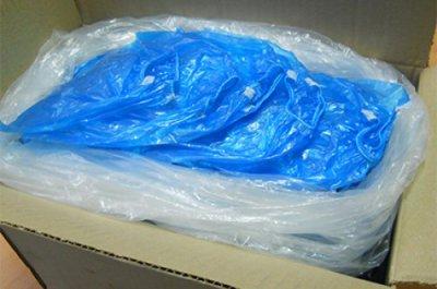 Бахилы АТМА полиэтиленовые 400 пар (800 шт) Голубые (ВР4016_800)