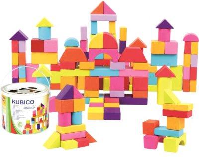 Ігровий набір Bino Кубики у відрі 100 деталей (84203) (4019359842038)