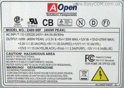 Б/У Блок питания AOPEN Z400-08F 400W