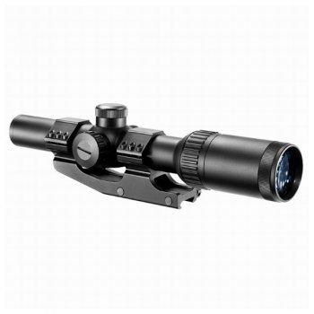 Приціл оптичний Barska AR6 Tactical 1-6x24 (IR Mil-Dot R/G)