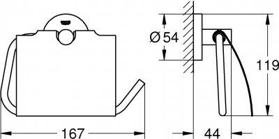 Тримач для туалетного паперу GROHE Essentials 40367AL1