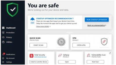 Ліцензійний антивірус BitDefender Total Security 2020 - тотальнийзахист вашихпристроїв. Єдина панель. (Ліцензія на 1 рік на 10 девайсів)