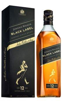 Виски Johnnie Walker Black label 12 лет выдержки 1 л 40% в подарочной упаковке (5000267023625)